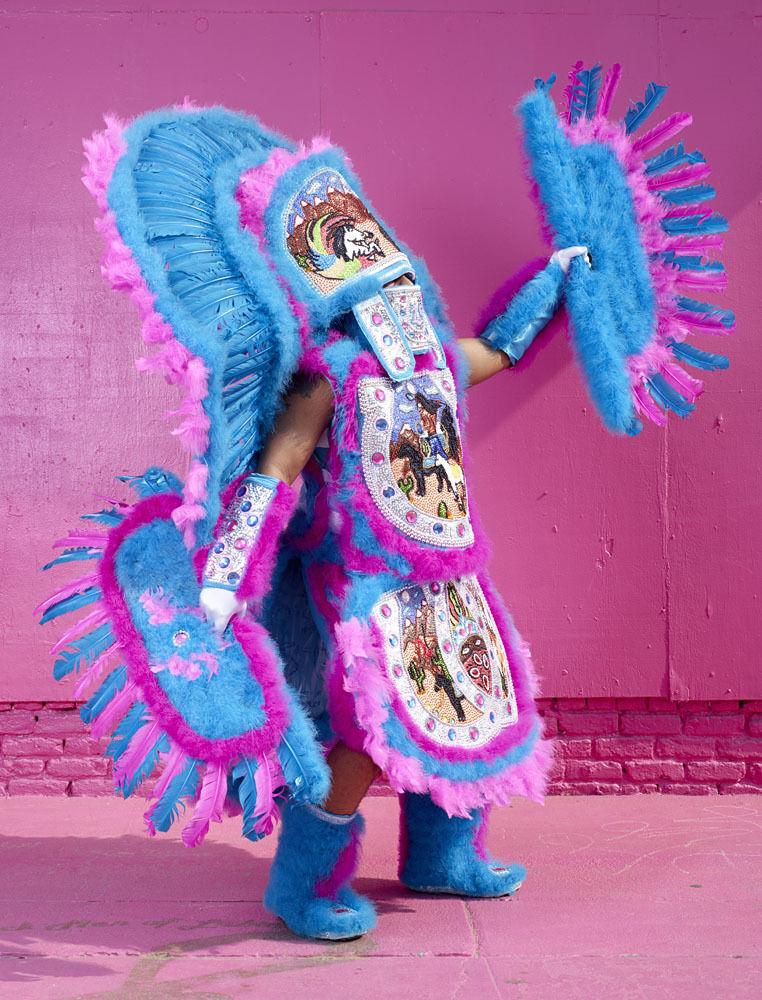 Mardi Gras Indians (pink)