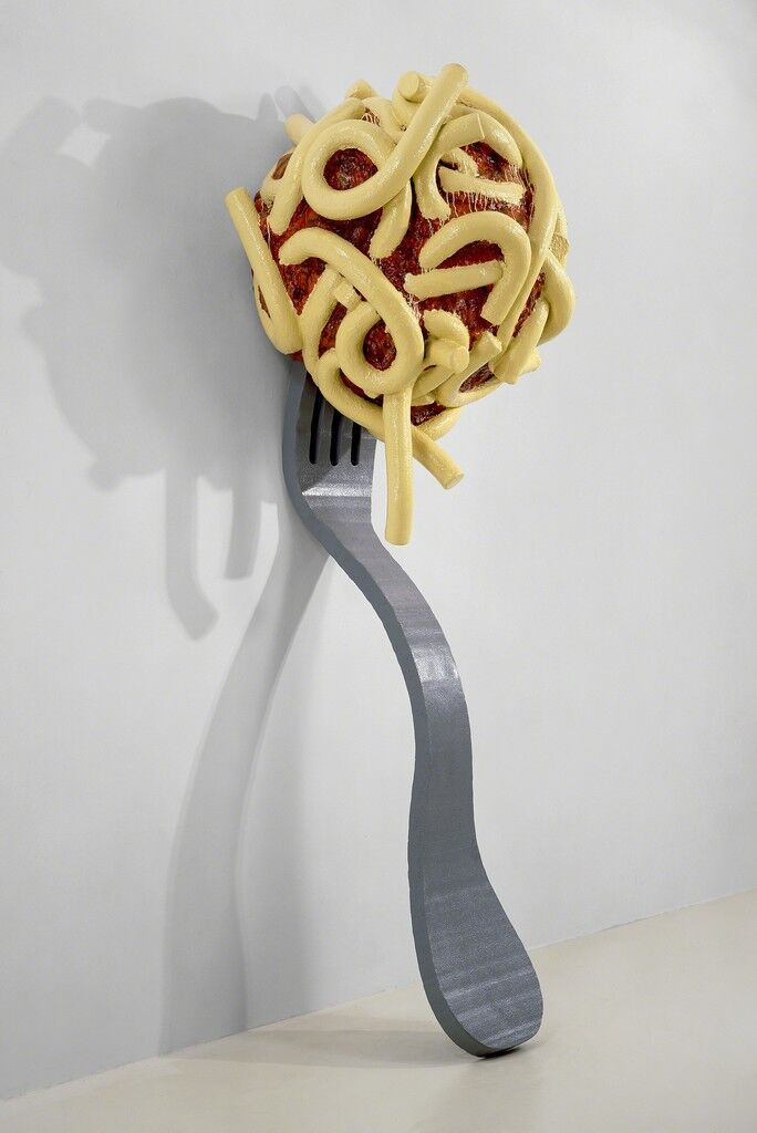 Leaning Fork with Meatball and Spaghetti II
