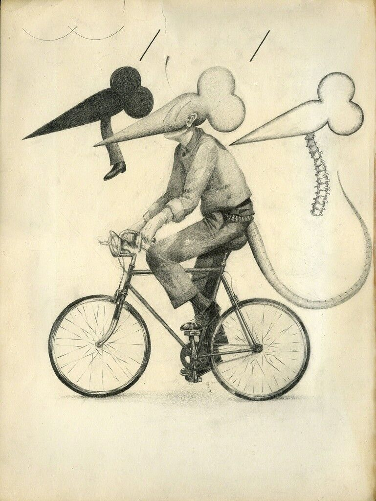 Flat Black Rat Bike No Pedestrian Nerve Column