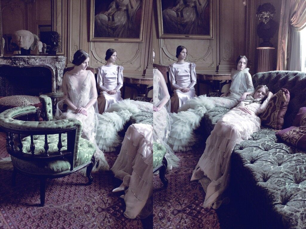 Models in Valentino, VOGUE Italia
