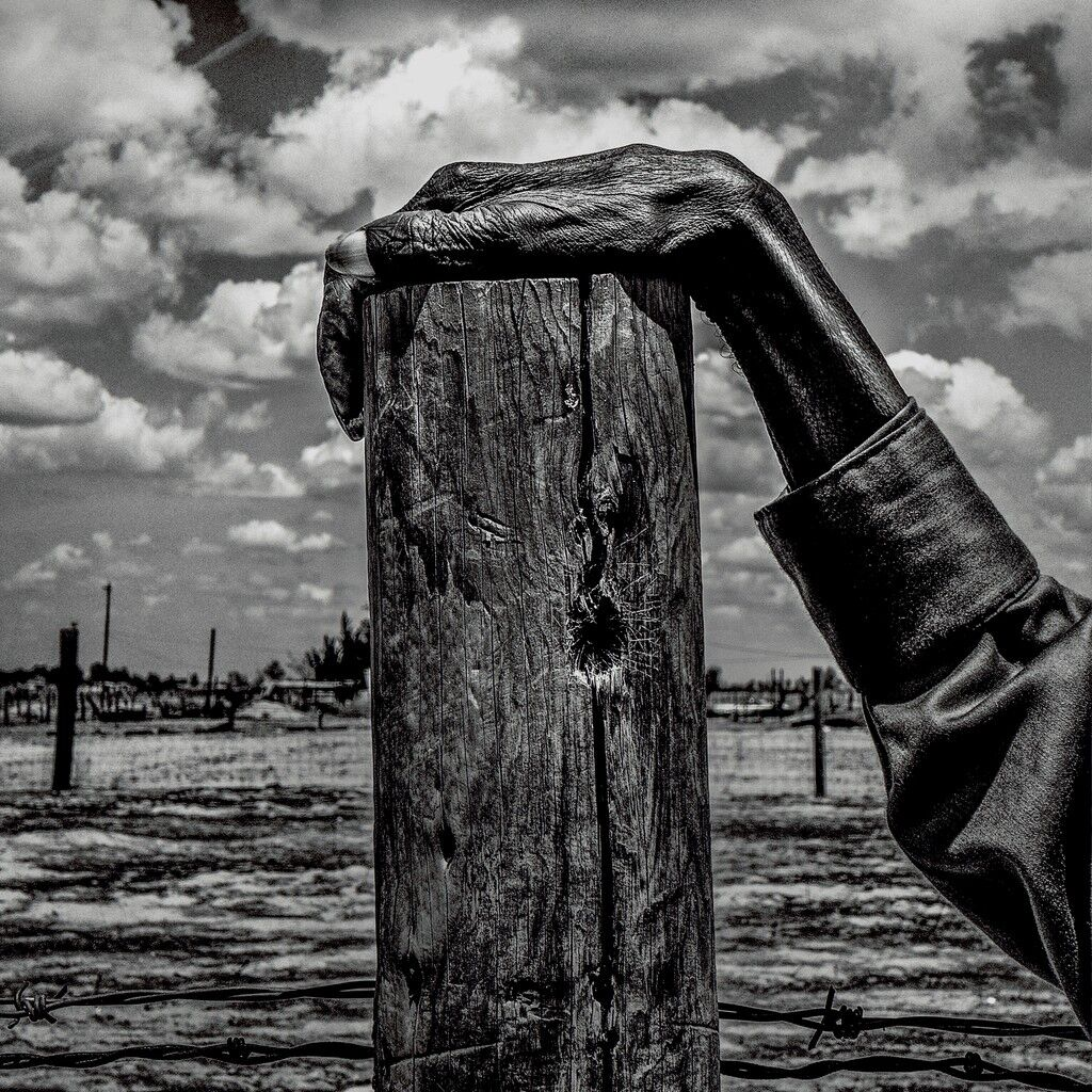 USA. Allensworth, California. Fence post. Allensworth has a population of 471 and 54% live below the poverty level.