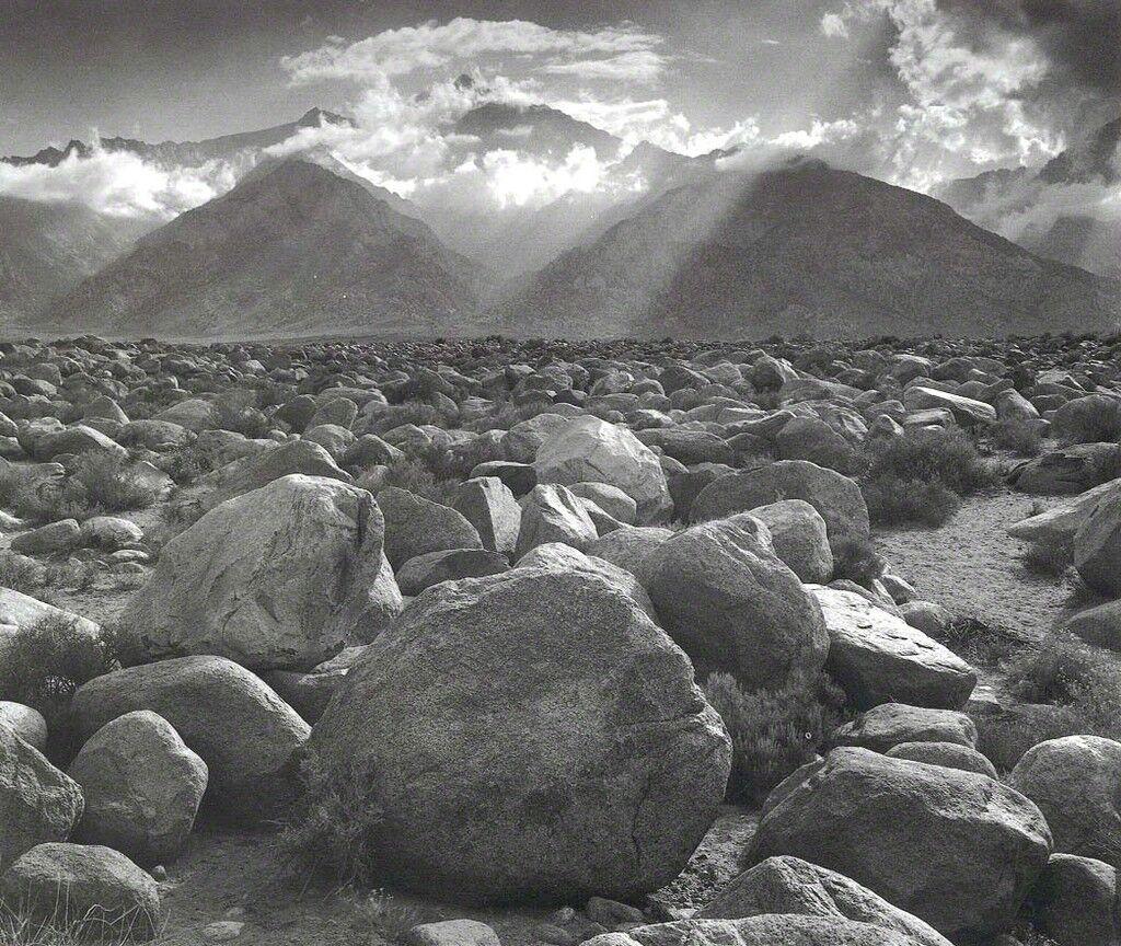 Mount Williamson, Sierra Nevada, from Manzanar, CA