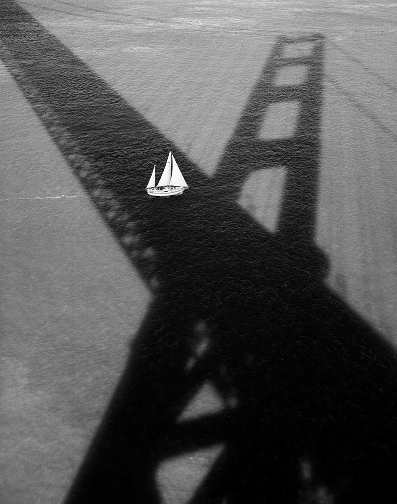 Golden Gate Bridge #176 (Sailboat & Shadow)