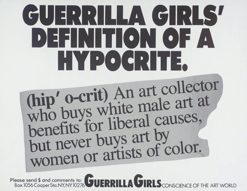 Guerrilla Girls Definition Of A Hypocrite