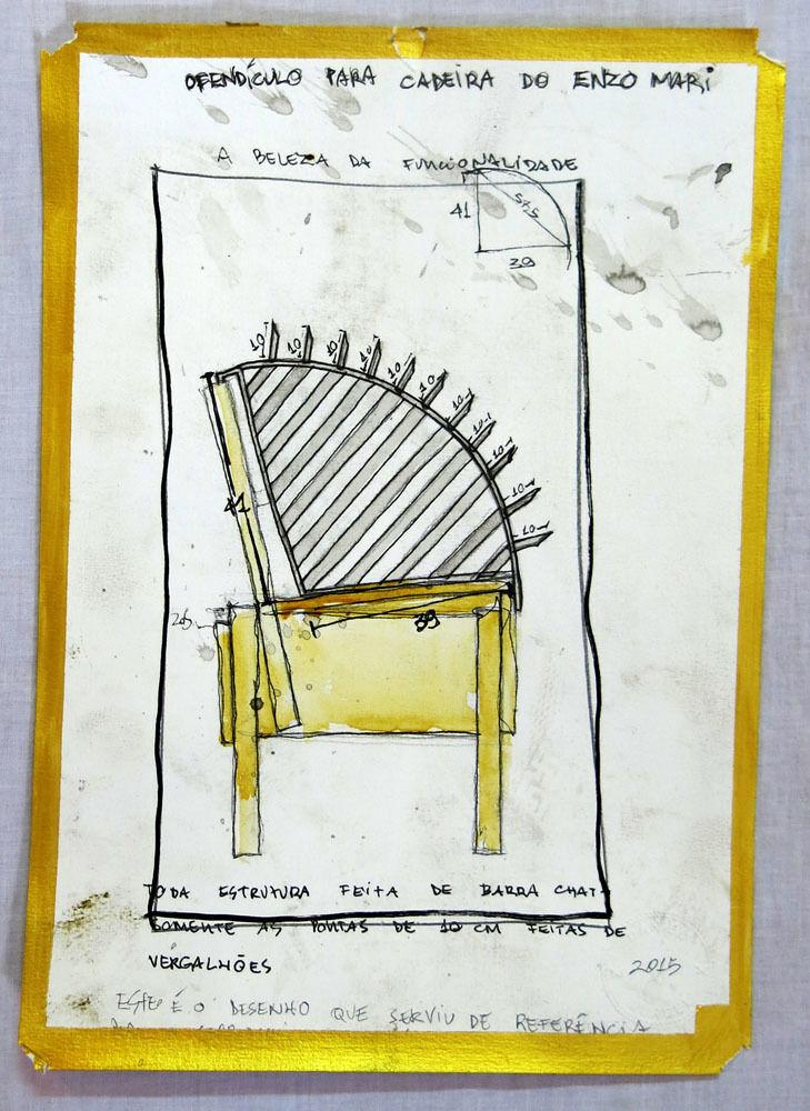 Projeto para ofendículo Beleza da Funcionalidade para cadeira do Enzo Mari [Project to Barrie Beauty of Functionality to chair by Enzo Mari]