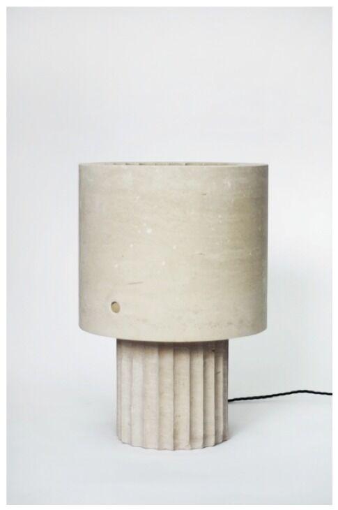 Small Portland Limestone Lamp
