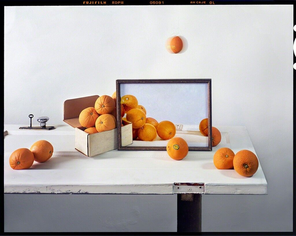 Oranges, Box and Painting on Door