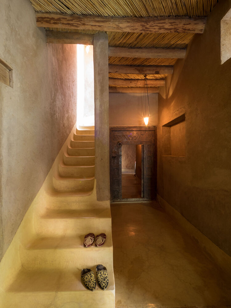 Interior Stairway with Slippers