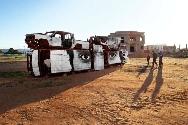 Inside Out - Tunisia, Police Cars in Sidi Bouzid