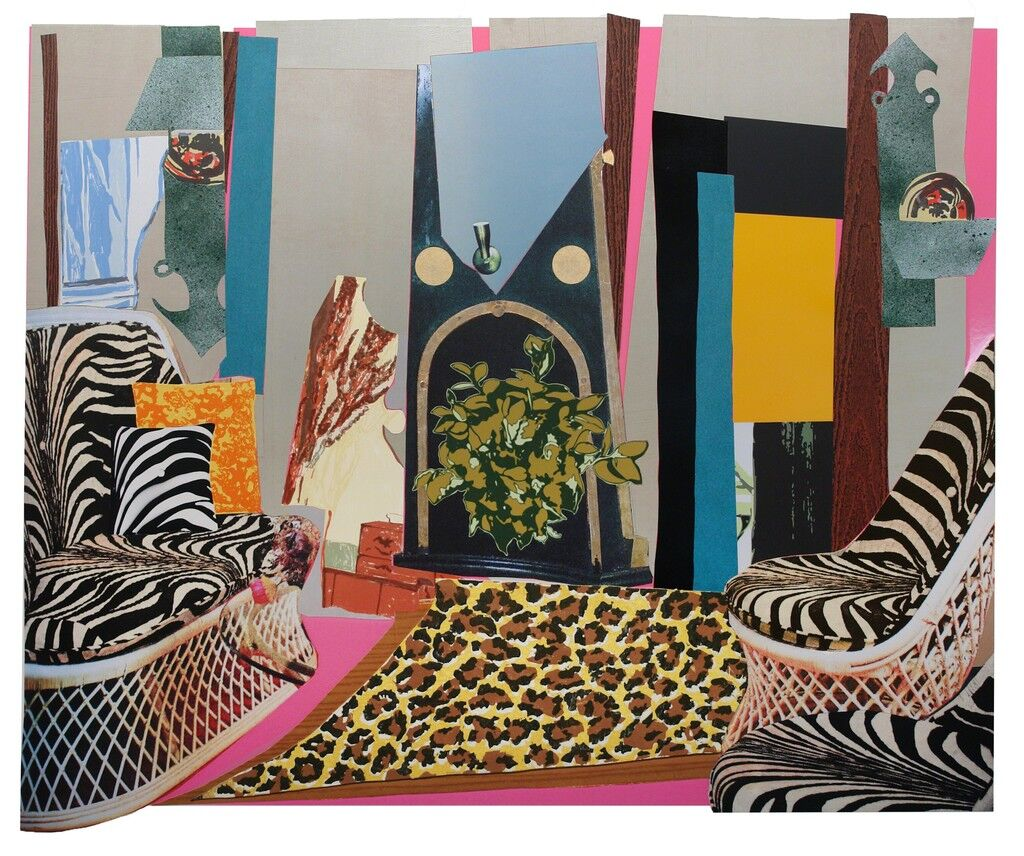 Interior: Zebra with Two Chairs and Funky Fur