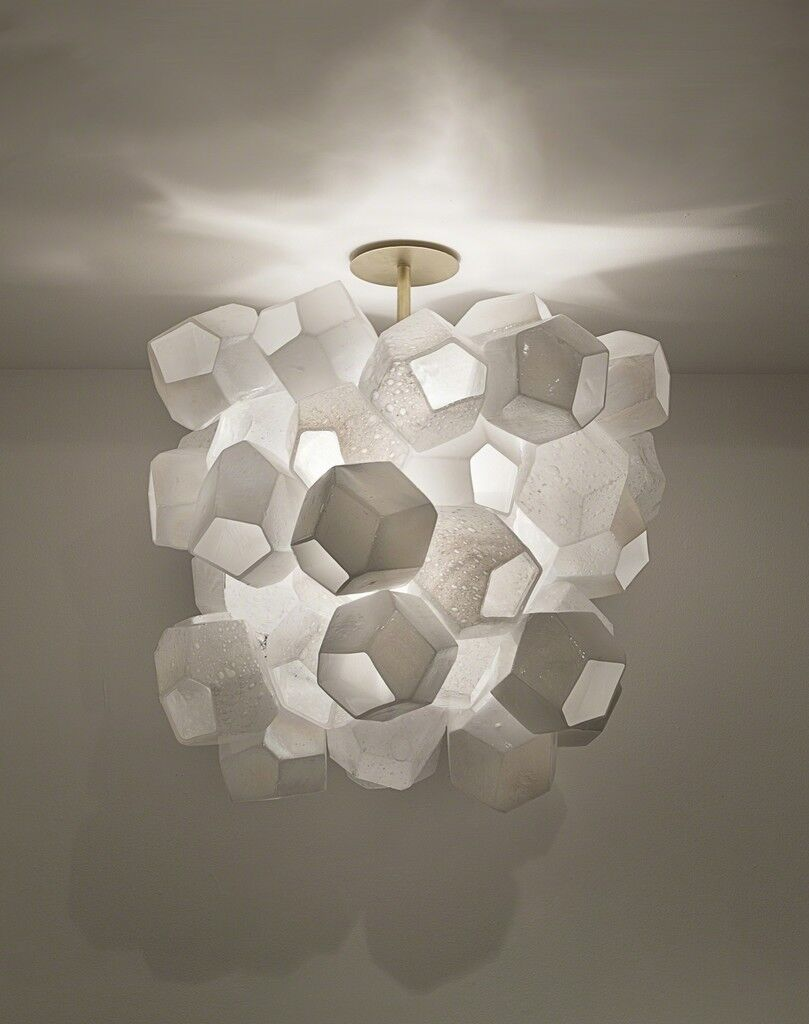 Illuminated Faceted Cluster sculpture