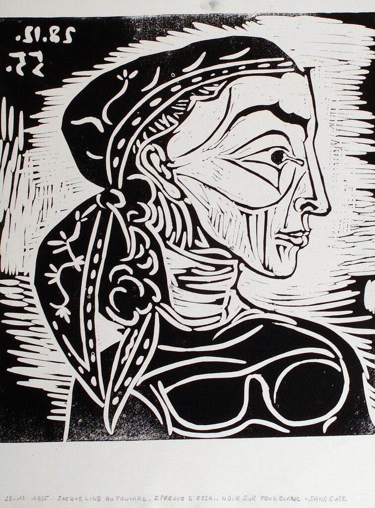 Profil de Jacqueline au Foulard