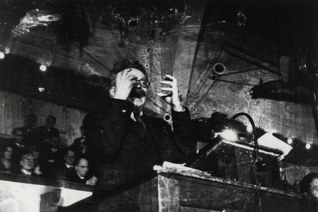 Leon Trotsky lecturing. Copenhagen, Denmark.