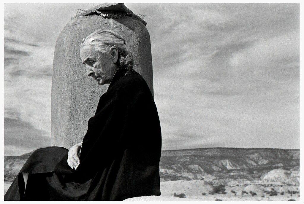 GEORGIA O'KEEFFE, GHOST RANCH, NEW MEXICO.