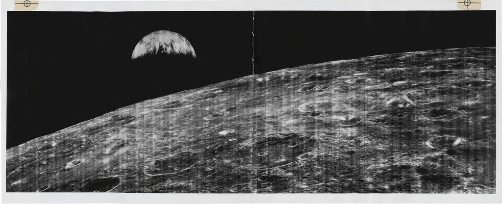 First Photo of Earth as Seen from Lunar Orbit