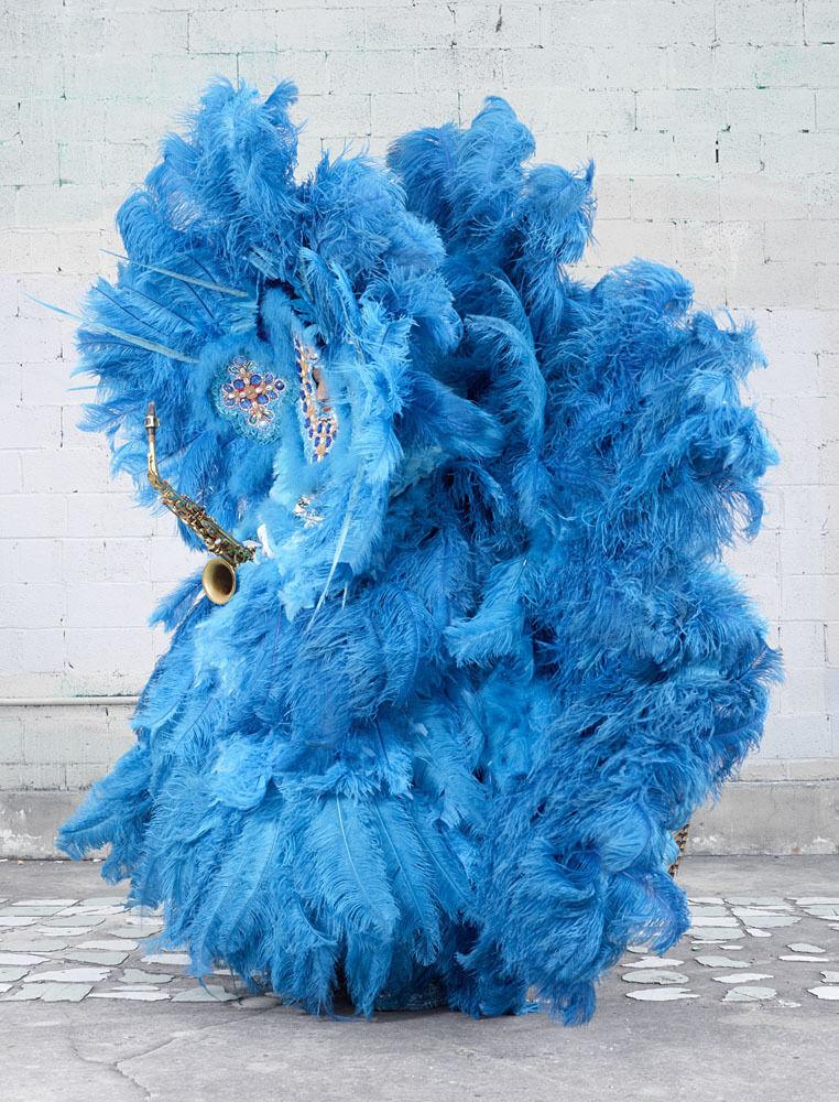 Mardi Gras Indians (blue)