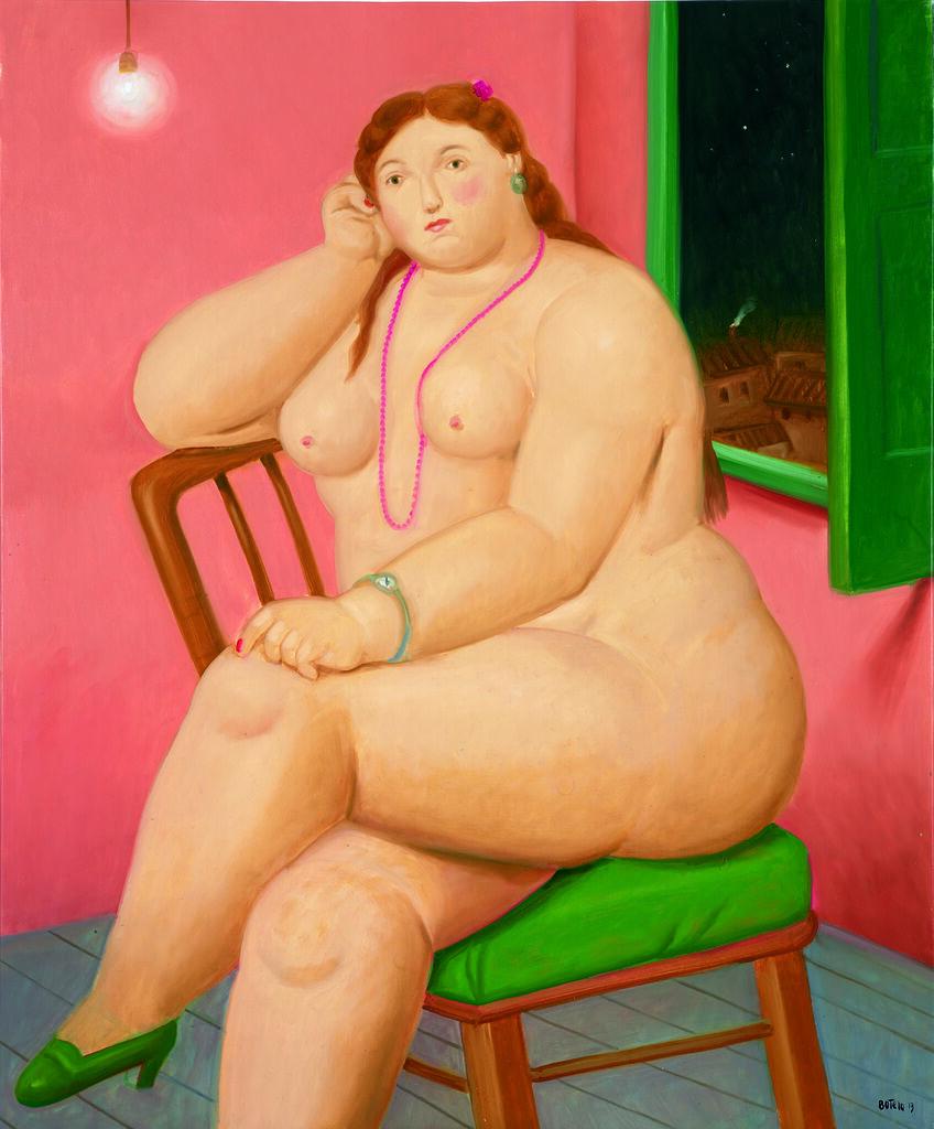 Naked Woman on the Chair - Sandalye üzerindeki çıplak kadın