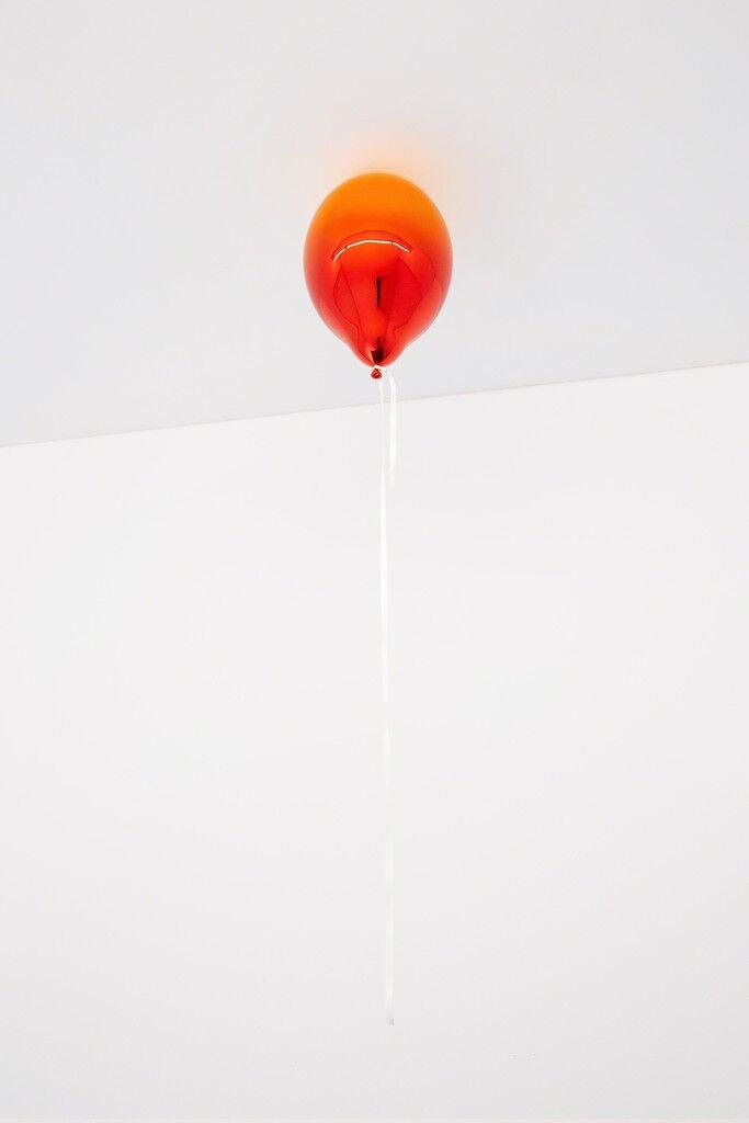 Dark Orange and Dark Red Mirror Balloon
