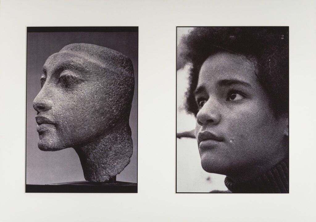 "Sisters III (L: Nefertiti's daughter,                      Maketaten; R: Devonia's Daughter, Kimberley), from                      the ""Miscegenated Family Album"""
