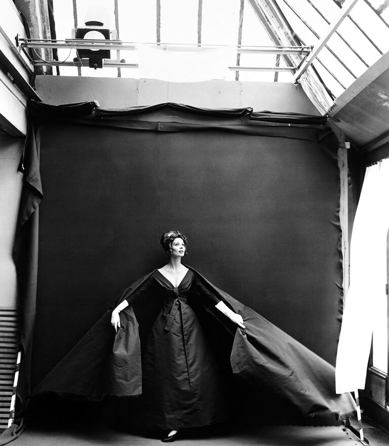 Suzy Parker in my Studio (Evening Dress by Dior)