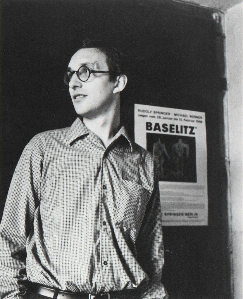 Georg Baselitz in his atelier, Berlin