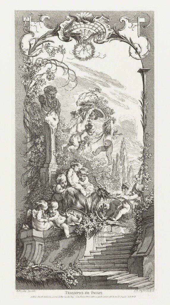Triomphe de Priape (Triumph of Priapus) in Nouveaux Morceaux pour des Paravents