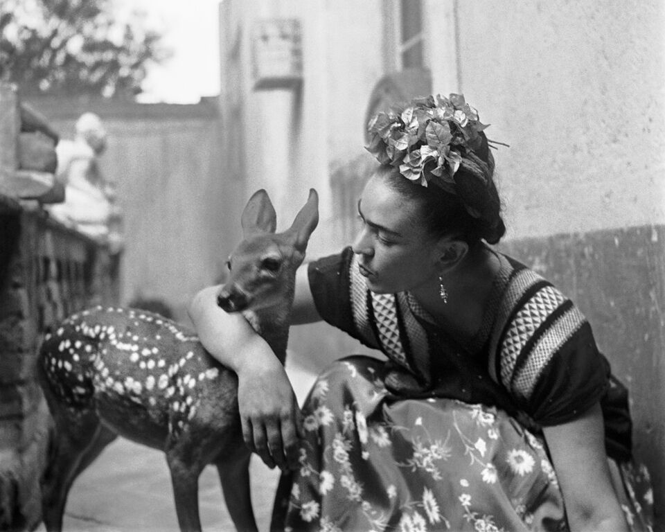 Frida with Granizo, Version 2, Coyoacan