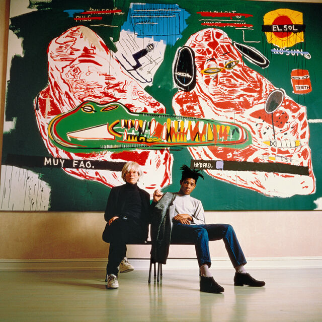Warhol and Basquiat Sitting, 1987