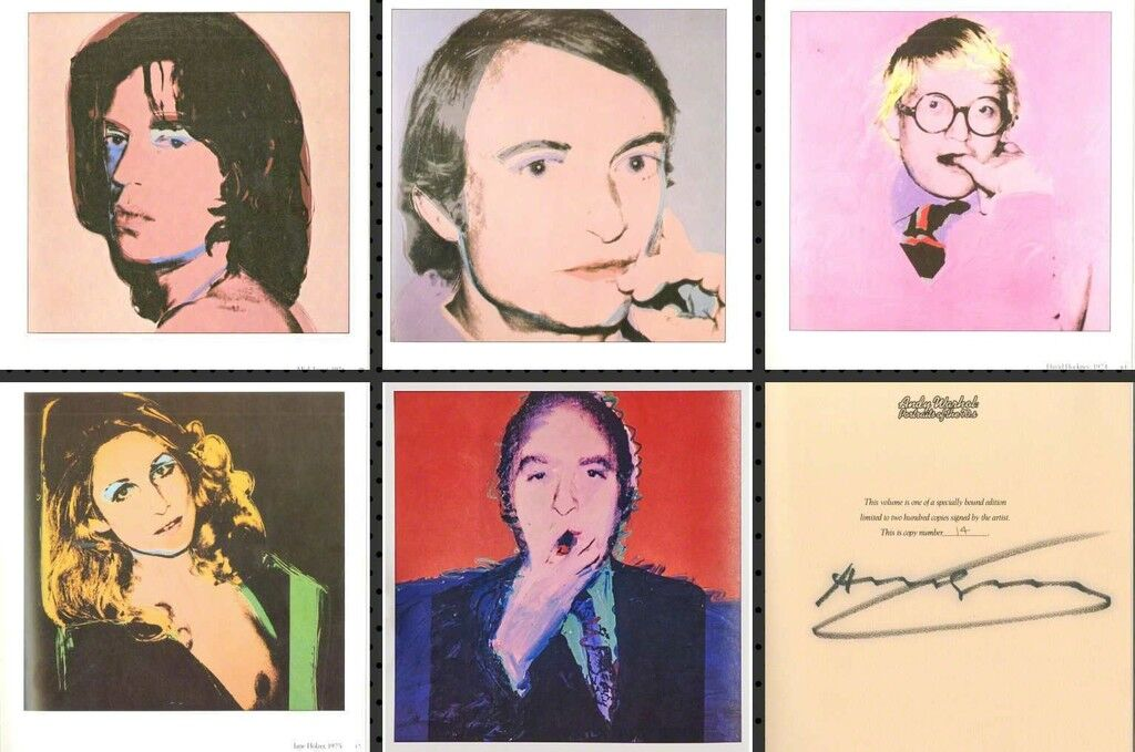 Portraits of the 1970s (Limited Edition Monograph of 120 Bound Offset Lithographs in Slipcase) Hand Signed, Numbered  by Warhol (Whitney Museum)