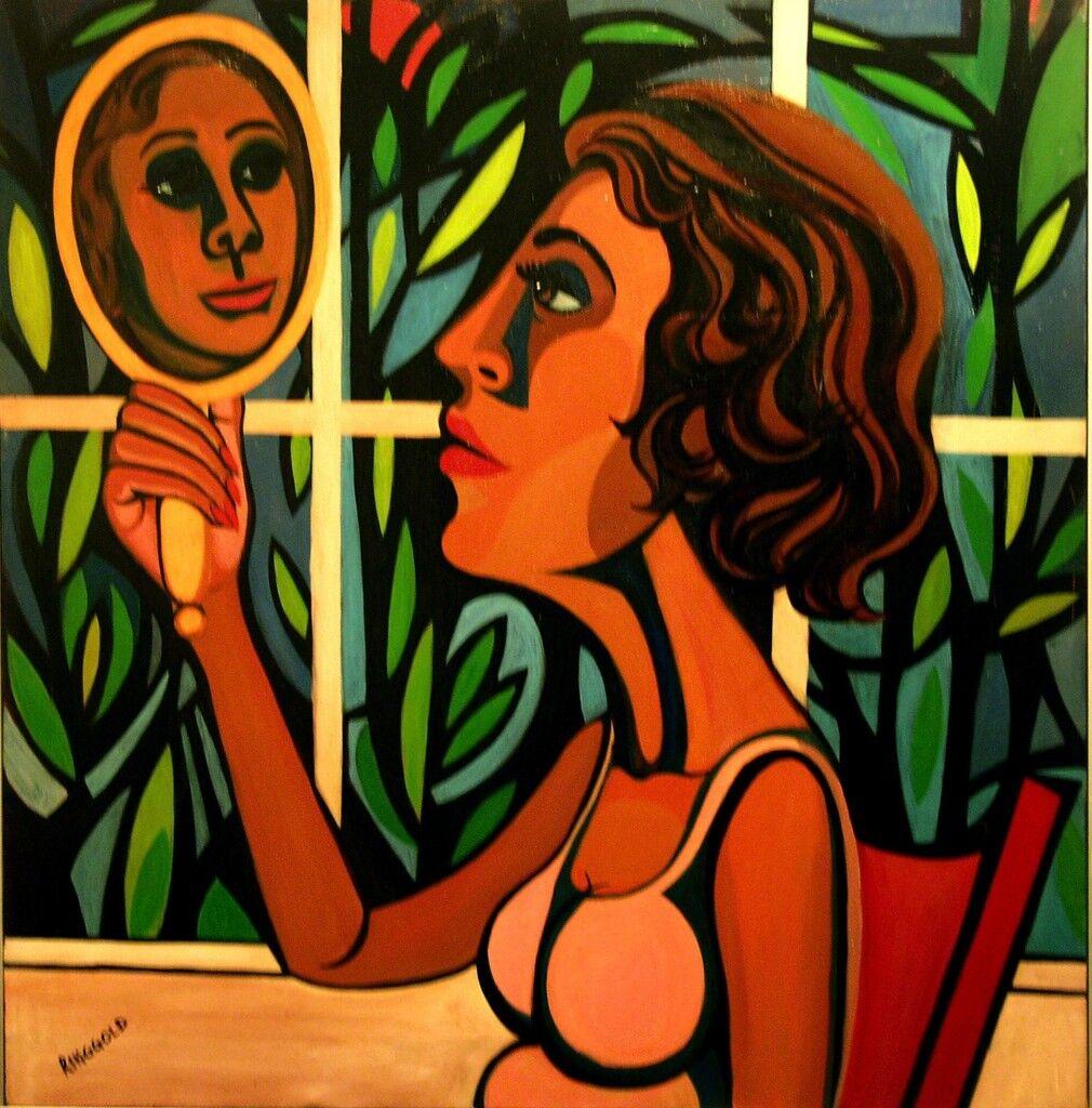 American People Series #16: Woman Looking in a Mirror