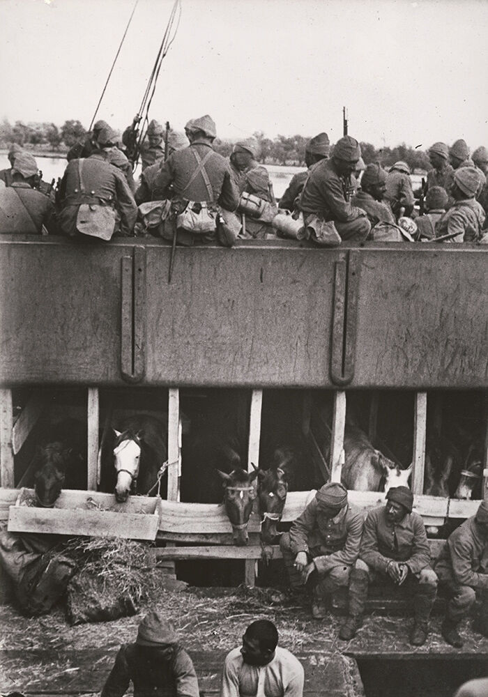 Turkish Troops on Board the Minna Horn, Braila, Romania