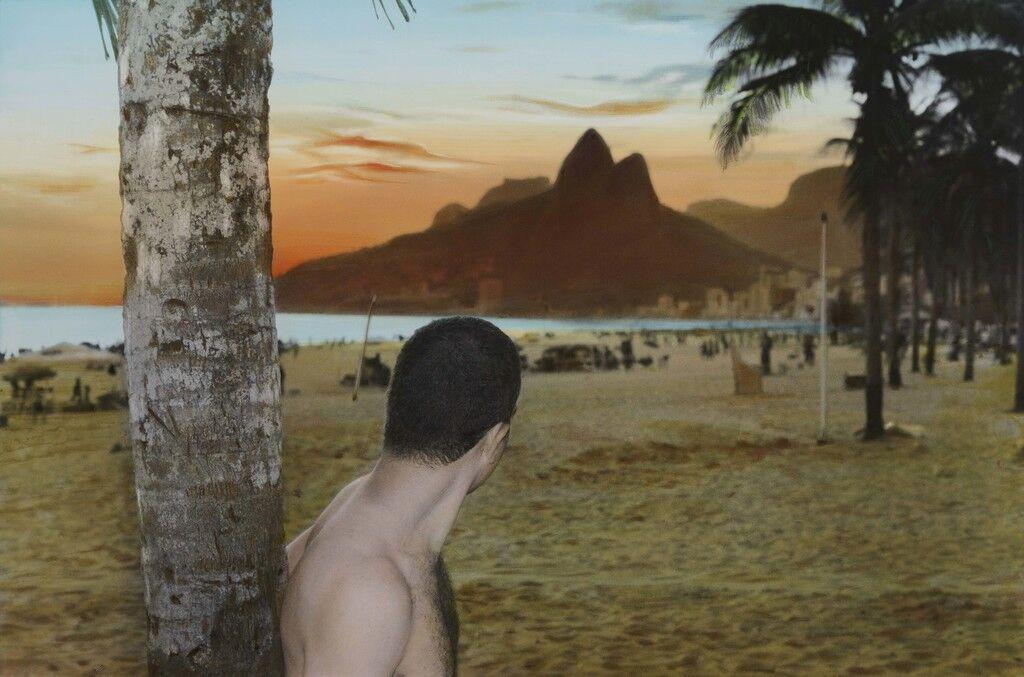 Self portrait sunset, Rio de Janeiro