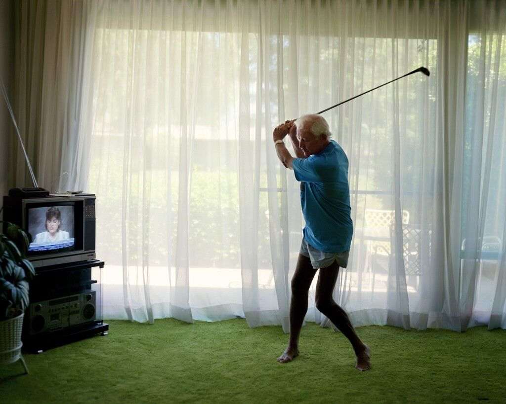 Practicing Golf Swing
