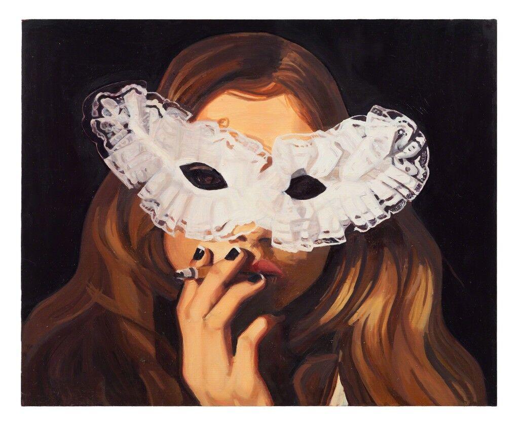 Flicka med mask