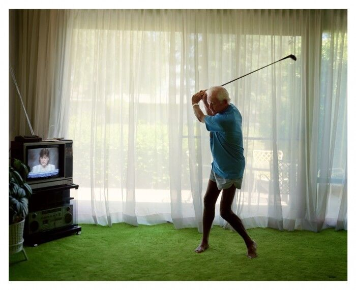 Practising Golf Swing