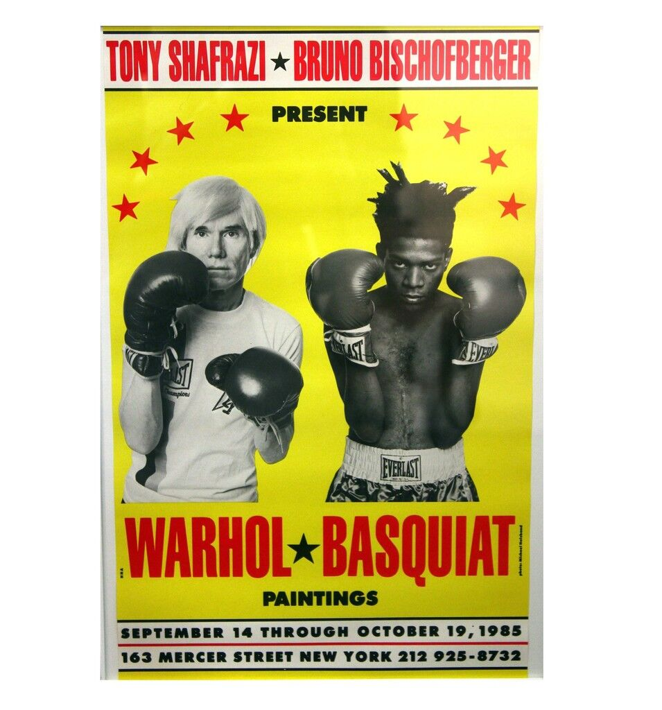 """""""Warhol / Basquiat Paintings"""", Poster/Invite, Shafrazi Exhibition NYC, POST MARKED"""