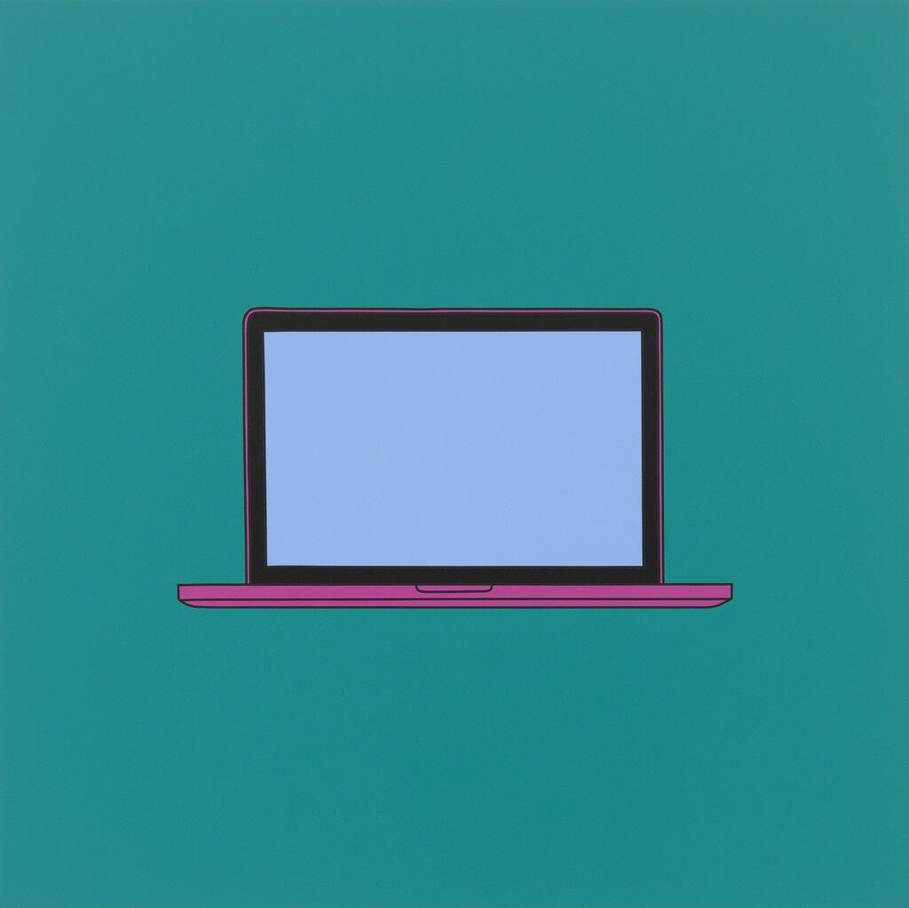 Untitled (laptop turquoise)