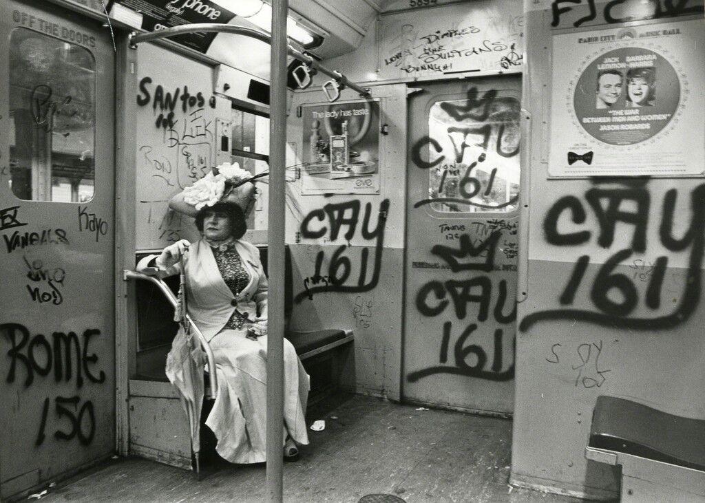 Editta Sherman on the Subway