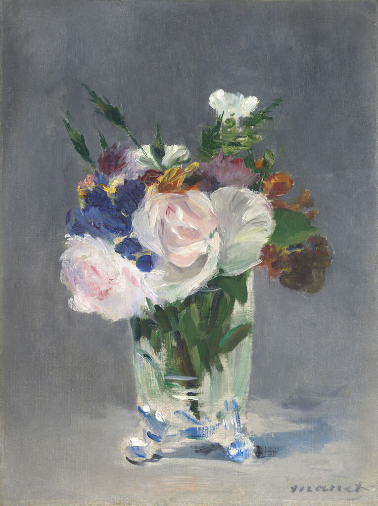 Flowers in a Crystal Vase