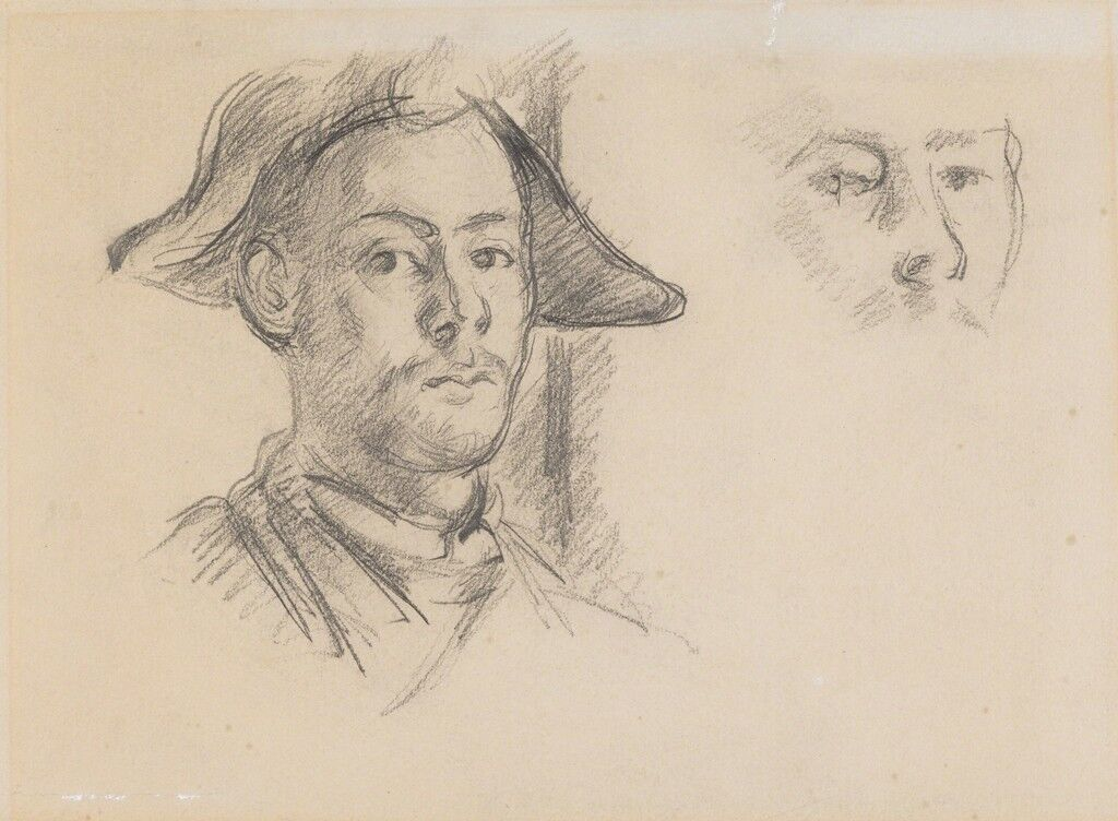 Paul Cézanne fils als Harlekin