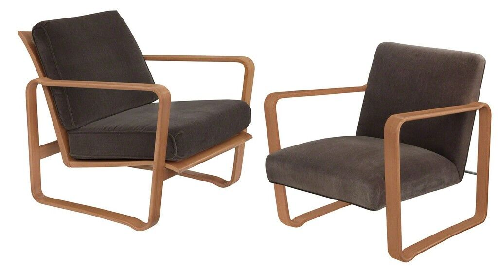 "Pair of Rare ""Modern Morris Chairs"""