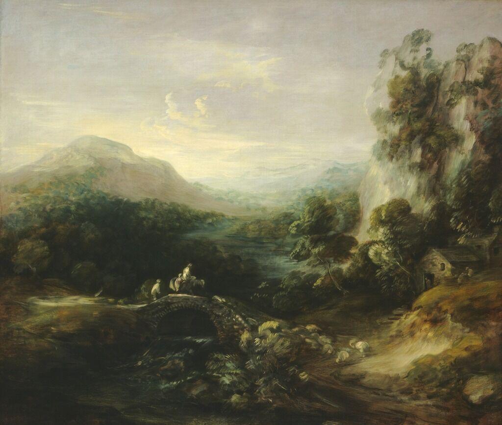 Mountain Landscape with Bridge