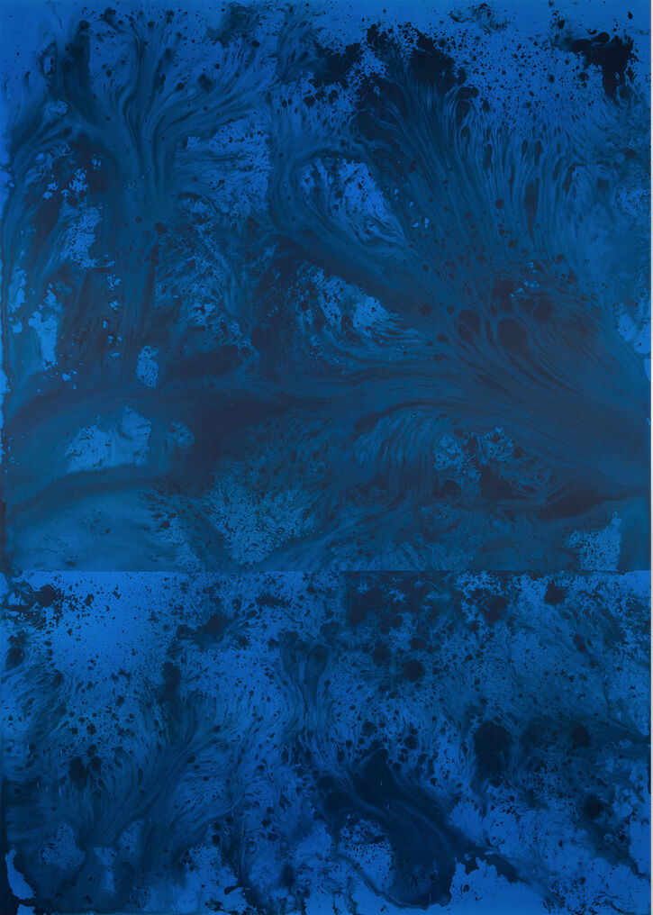 Untitled Painting in Cerulean