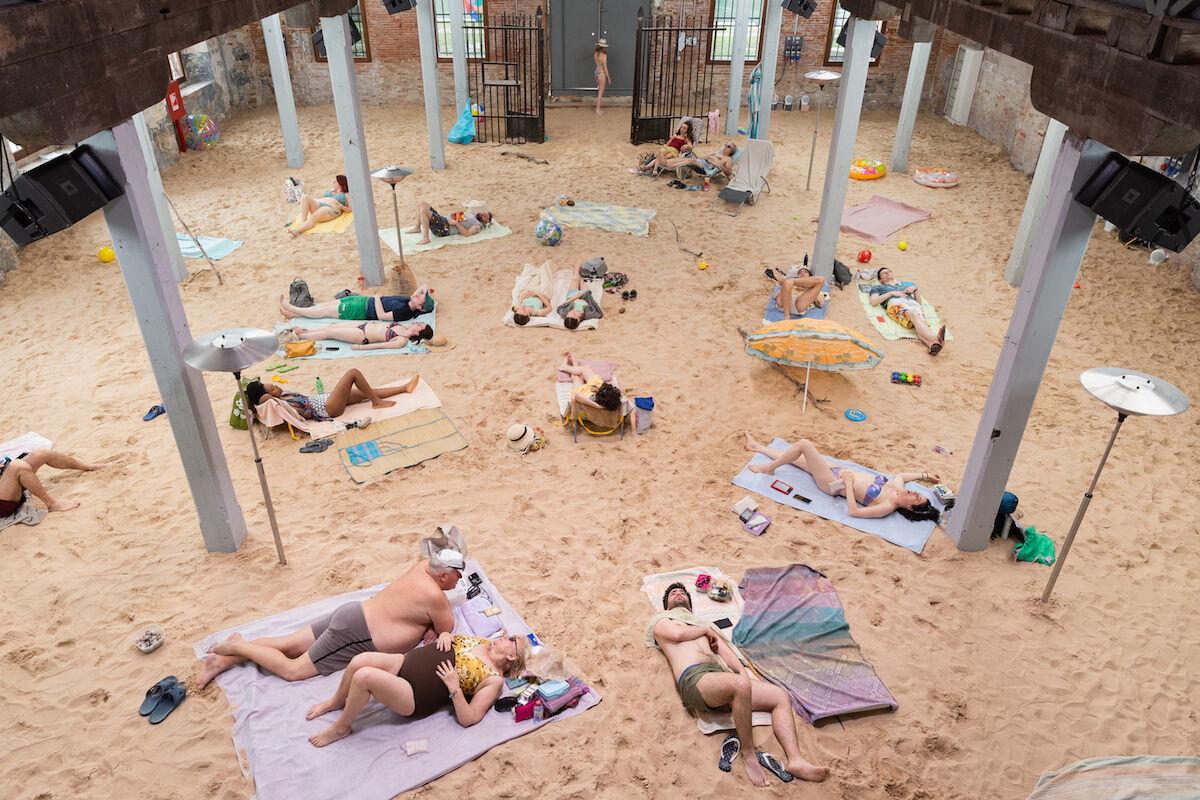 Rugile Barzdziukaite, Vaiva Grainyte, and Lina Lapelyte, Sun & Sea (Marina), 2019, opera-performance, Biennale Arte 2019, Venice. Photo © Andrej Vasilenko.