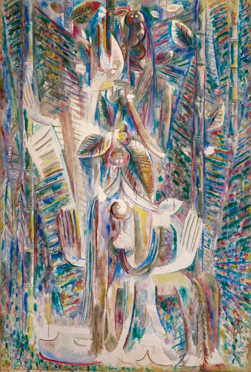 Wifredo Lam, Omi Obini, 1943. Courtesy of Sotheby's.