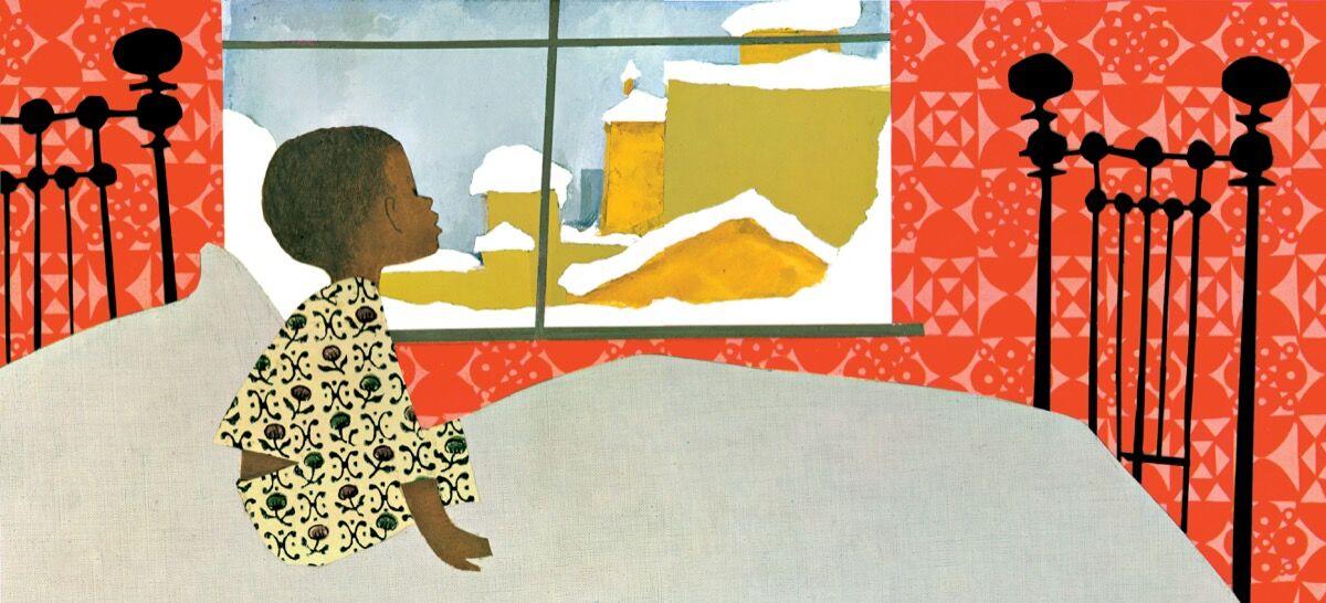 Illustration from Ezra Jack Keats's The Snowy Day, 1962. Courtesy of the Ezra Jack Keats Foundation.