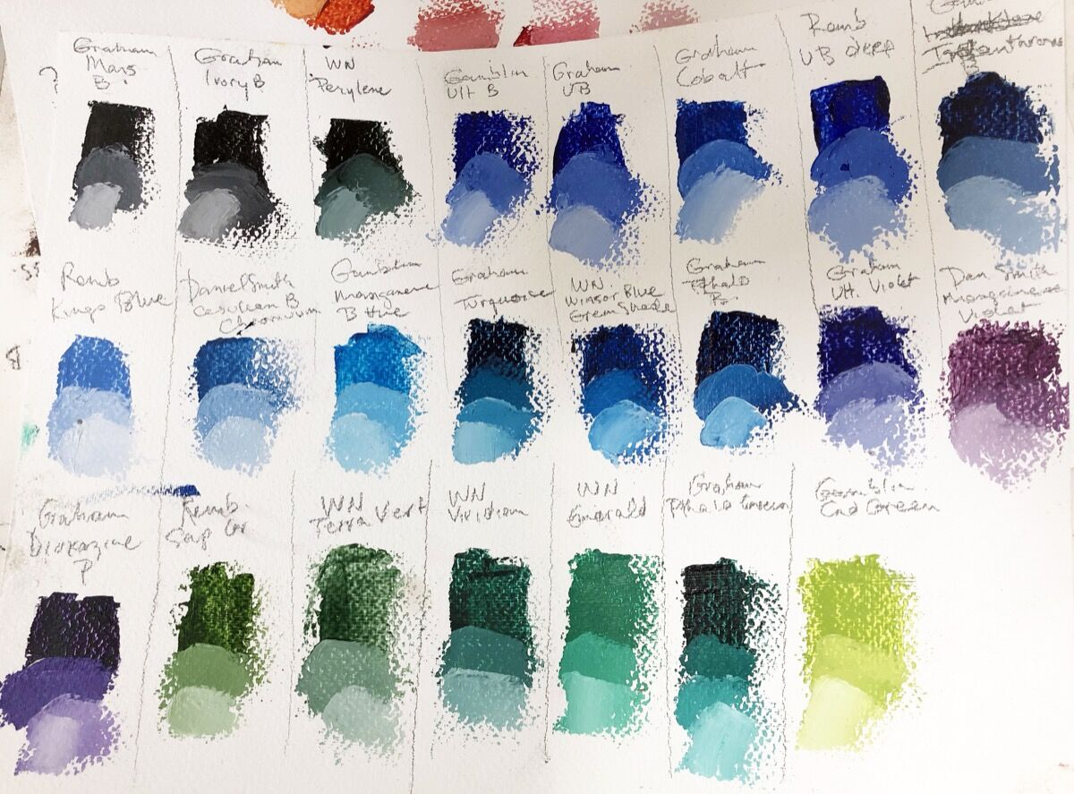 Paint swatches.