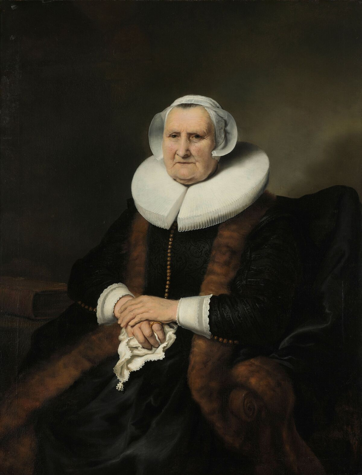 Ferdinand Bol (attributed to), Portrait of an Old Lady, Possibly Elisabeth Bas, c. 1640–45. Courtesy of the Rijksmuseum.