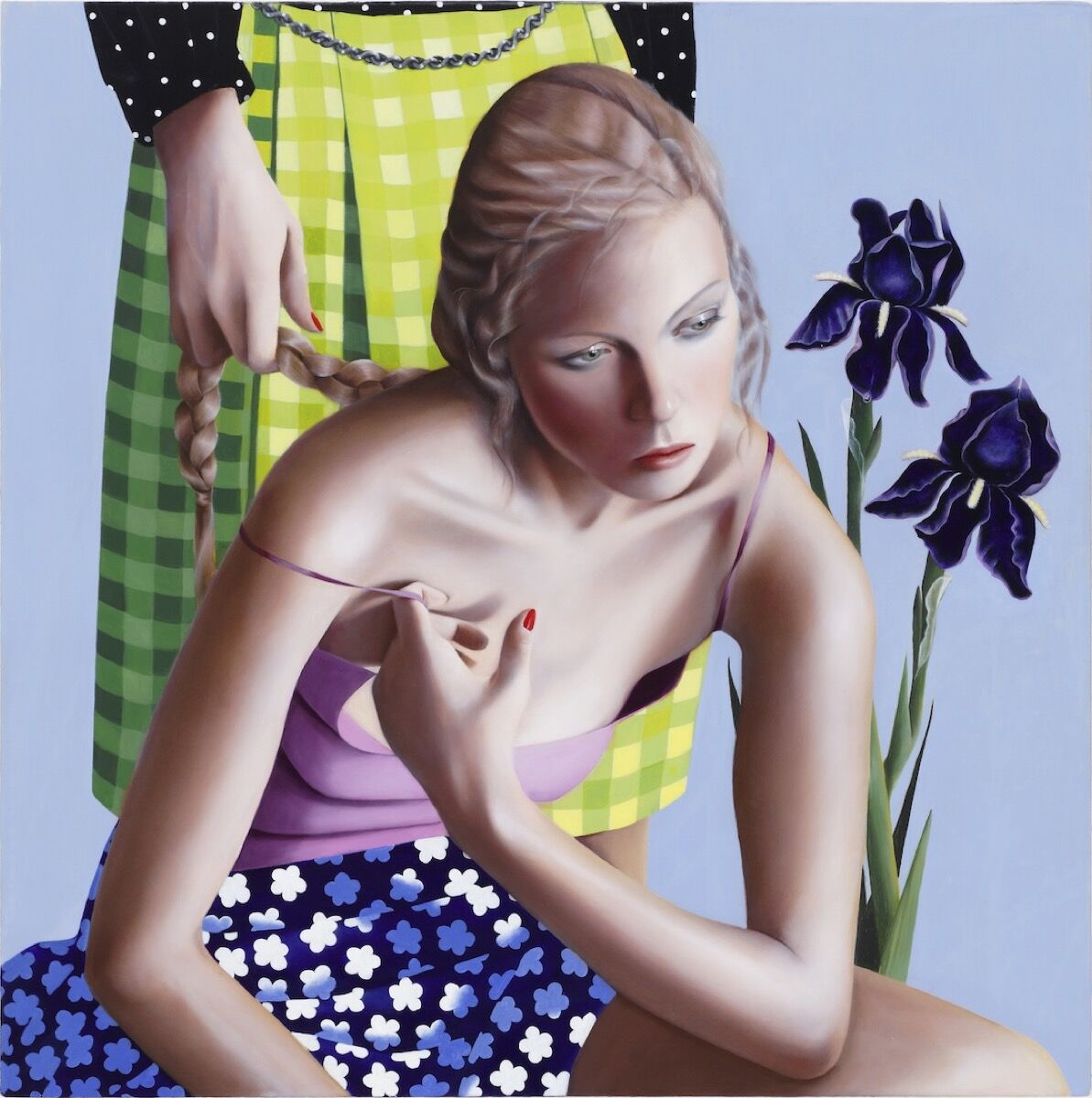 Jocelyn Hobbie, Twin Iris, 2012. © Jocelyn Hobbie. Courtesy of Fredericks & Freiser, NY.