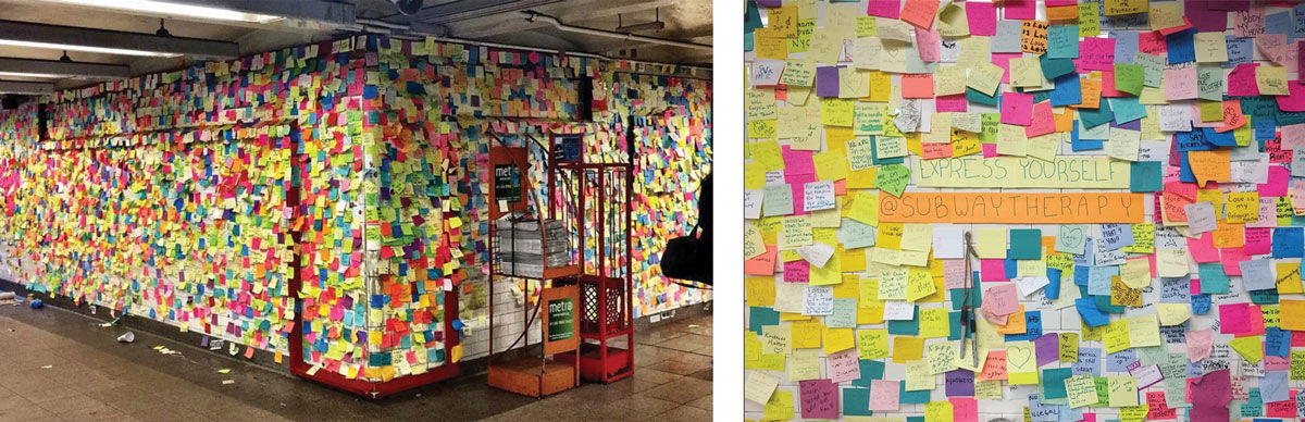 Left: Photo by @lizapams, via Instagram; Right: Photo by @subwaytherapy, via Instagram.